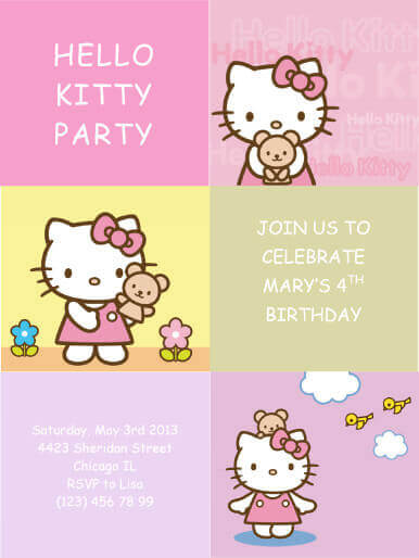 33 Free DIY Printable Party Invitations For Kids - birthday party card template