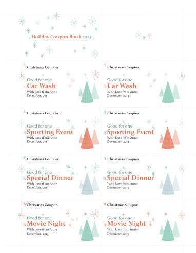 21 Free Printable Christmas Coupons - payment coupon book template