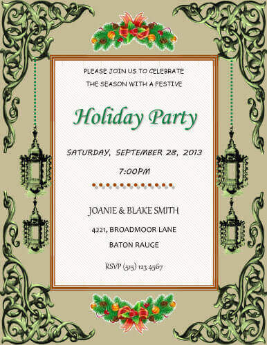 26 Free Printable Party Invitation Templates in Word - holiday party invitation