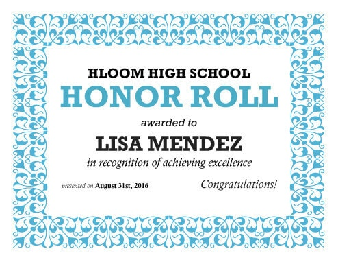 27 Printable Award Certificates Achievement, Merit, Honor - free printable certificates of achievement