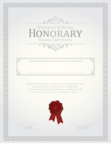 27 Printable Award Certificates Achievement, Merit, Honor - no objection certificate template