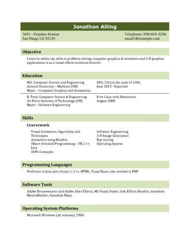 13 Student Resume Examples High School and College - professional it resume format