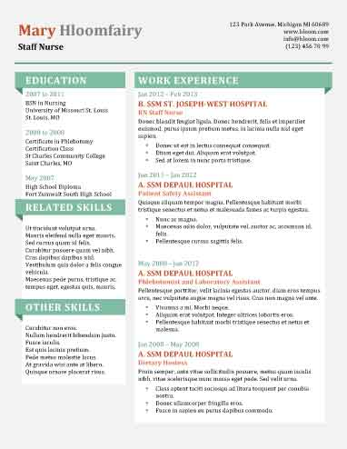 49 Creative Resume Templates Unique Non-Traditional Designs - Cool Resume Format