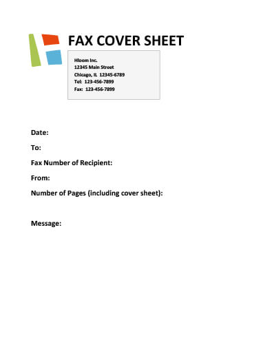 29 Free Printable Fax Cover Sheet Templates - example of a fax cover sheet