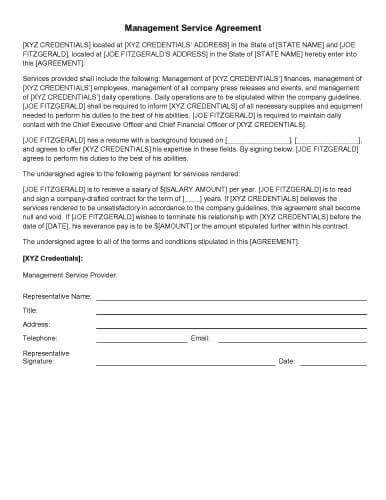 31 Sample Agreement Templates in Microsoft Word - sample master service agreement