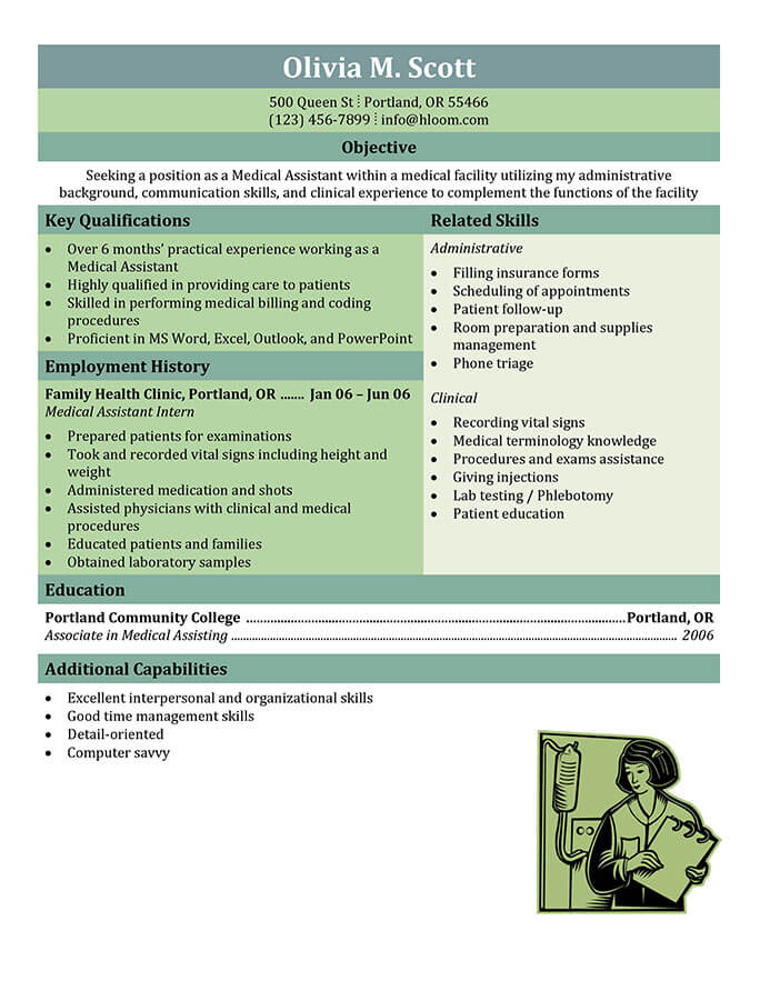 16 Free Medical Assistant Resume Templates - Examples Of Resumes For Medical Assistants