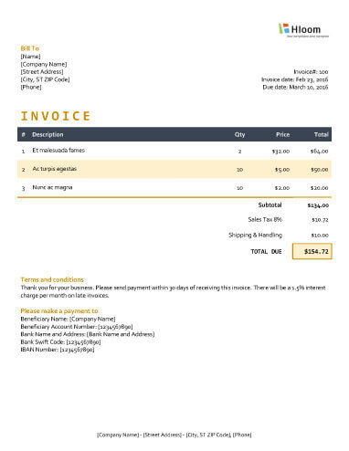 19 Blank Invoice Templates Microsoft Word - how to make invoice on word