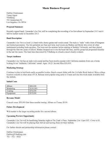 32 Sample Proposal Templates in Microsoft Word - business proposals samples