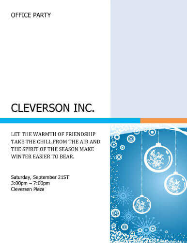 26 Free Printable Party Invitation Templates in Word - Corporate Party Invitation Template