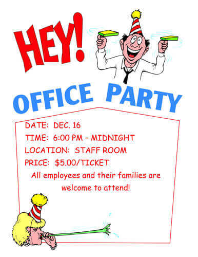 office birthday invitation template