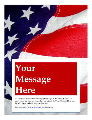 24 Business Marketing Flyer Templates Free Download - american flag background for word document