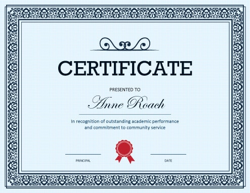 27 Printable Award Certificates Achievement, Merit, Honor - Examples Of Certificates Of Recognition