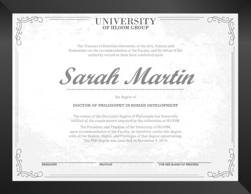11 Free Printable Degree Certificates Templates - Graduation Certificate Paper