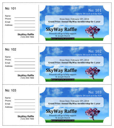 15 Free Raffle Ticket Templates in Microsoft Word - Mail Merge