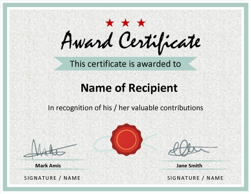 27 Printable Award Certificates Achievement, Merit, Honor