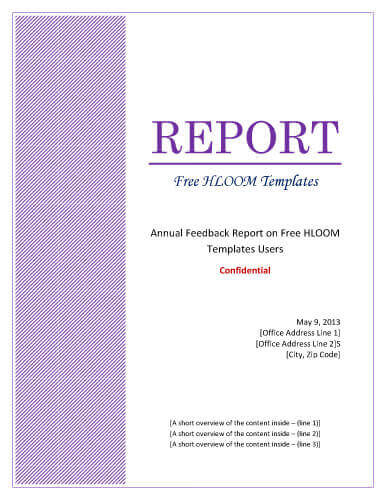 7 Report Cover Page Templates for Business Documents - Free Report Cover Page Template