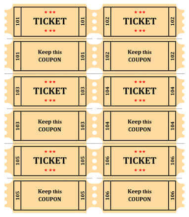 15 Free Raffle Ticket Templates in Microsoft Word - Mail Merge - Free Printable Raffle Ticket Template Download