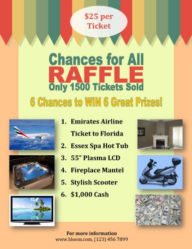 16 Free Raffle Flyer Templates prize, cash, 50/50, fundraising, and - raffle ticket prizes