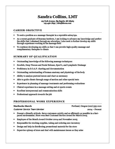 18 Free Massage Therapist Resume Templates