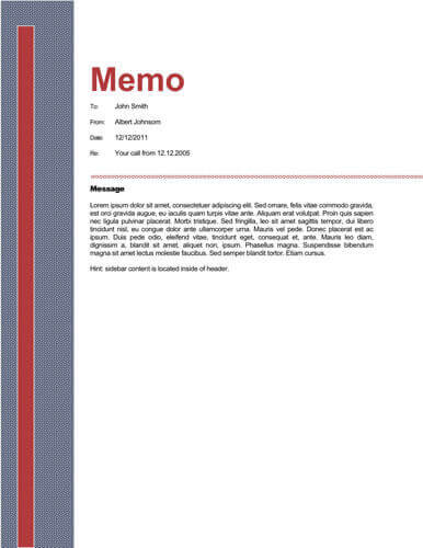 Memo Format Bonus 48 Memo Templates - Sample Business Memo
