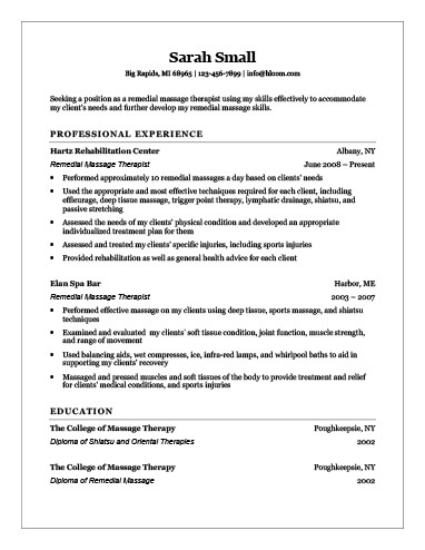 therapist resume - Ozilalmanoof