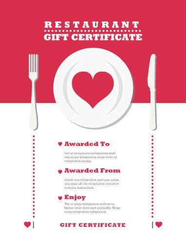 13 plantillas de certificado de regalo gratis e imprimibles