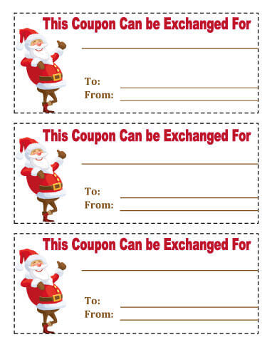 21 Free Printable Christmas Coupons - free printable christmas gift certificate