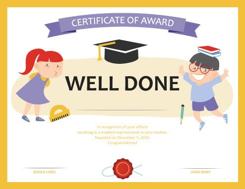 27 Printable Award Certificates Achievement, Merit, Honor - merit certificate comments