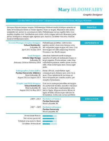 Modern Resume Templates 64 Examples - Free Download - layout for a resume