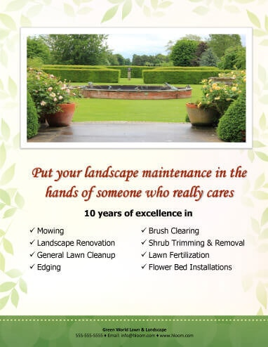 15 Lawn Care Flyers Free Examples + Advertising Ideas