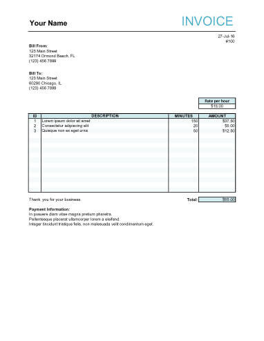 10 Free Freelance Invoice Templates Word / Excel