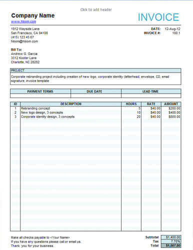 25 Free Service Invoice Templates Billing in Word and Excel - service invoices