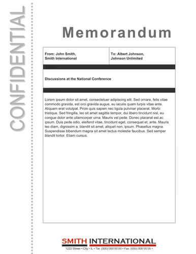 Confidential Memo Template  NodeCvresumePaasproviderCom