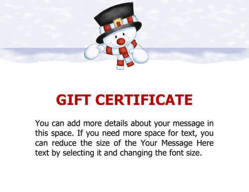 Free Printable Christmas Gift Certificate Templates – Gift Card Samples Free