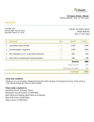19 Blank Invoice Templates Microsoft Word - invoice form word