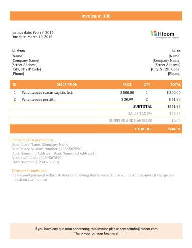 19 Blank Invoice Templates Microsoft Word