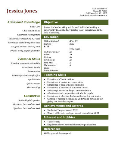 13 Student Resume Examples High School and College - example of resume format for student