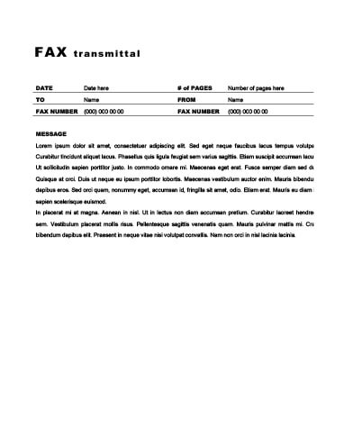 29 Free Printable Fax Cover Sheet Templates - fax document