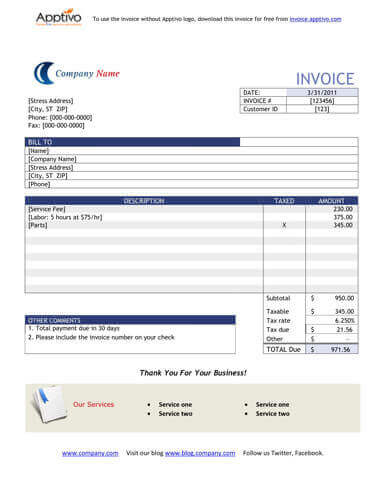 Sales Invoice Templates 27 Examples in Word and Excel - example of invoice form
