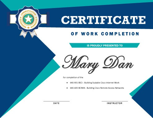 7 Certificates of Completion Templates Free Download - blank achievement certificates