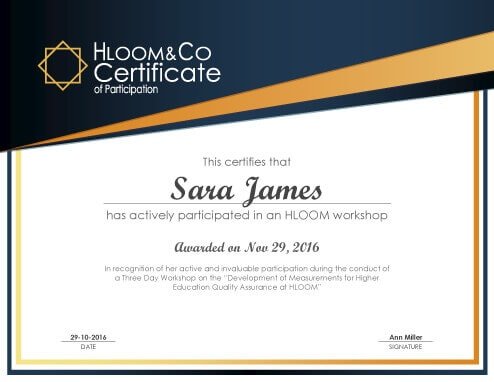 3 Free Certificates of Participation Templates - certificate of participation format