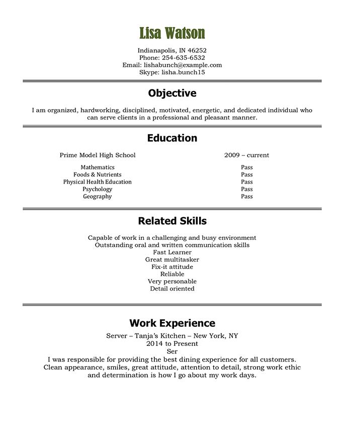 student resume template hloom