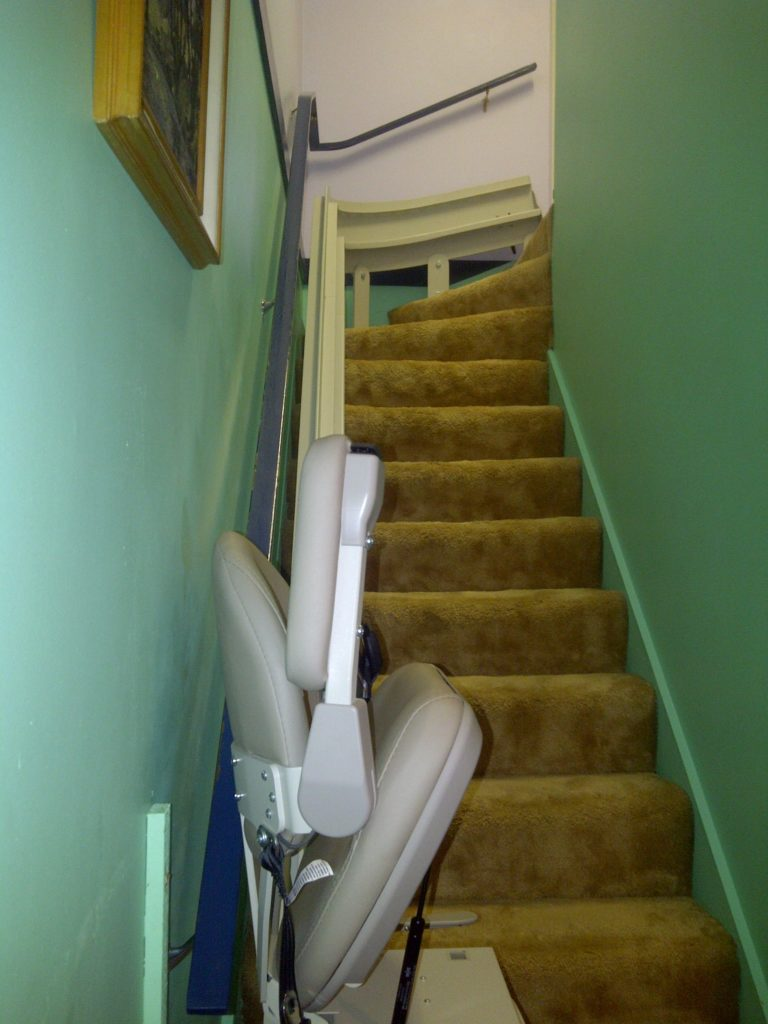 Bruno Curved Stairlift Installed In Richmond Hme Stairlifts