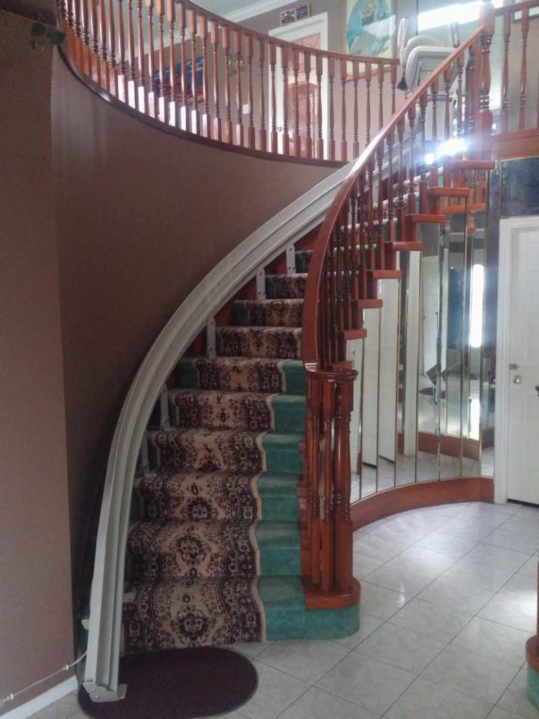 Curved Stairlift In Vancouver Hme Stairlifts