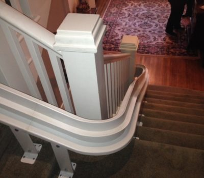 Bruno Curved Stairlift Installation Vancouver Hme Stairlifts