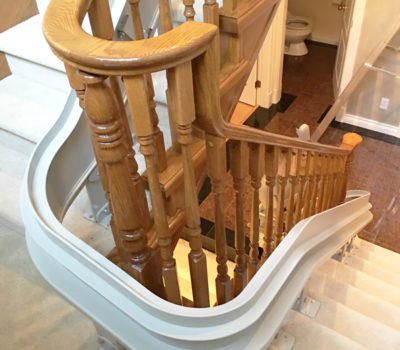 Curved Indoor Stairlift Installation Vancouver Stairlifts