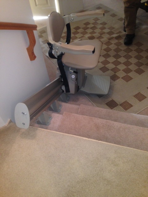 Straight Stairlift Installed In Vancouver Hme Stairlifts