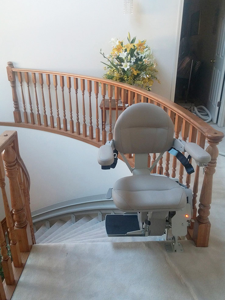 Hme Curved Stair Lift Vancouver Vancouver Stairlifts