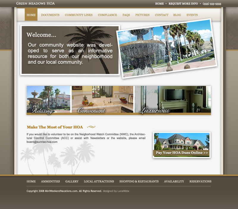 Awesome Hoa Website Template Crest - Professional Resume Examples - neighborhood website templates