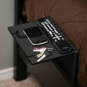 space saving folding bedside shelf